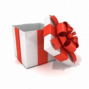 Boite Cadeau Vide Gifi : bo te cadeau ouvert vide blanc avec le ruban rouge ~ Dailycaller-alerts.com Idées de Décoration