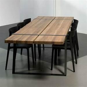 17 meilleures idees a propos de meubles en acier sur With table de salle a manger originale
