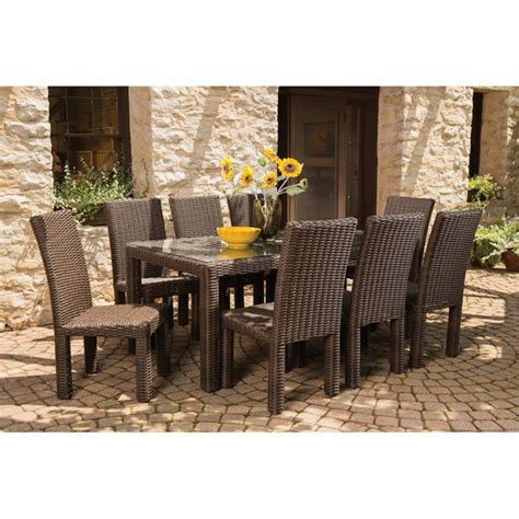 lloyd flanders mesa wicker 9 patio dining set lf mesa set1