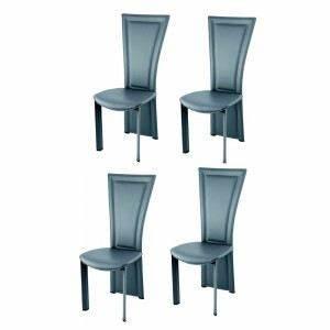 chaises salle a manger cuir king grises x4 gris achat With salle À manger contemporaineavec chaise cuir couleur