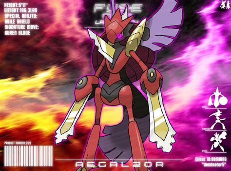 pokemon fusion deviantart dragonith gallade commission mega scizor fan aegislash sapphire ruby corp omega alpha special evolution steel rpg fuse