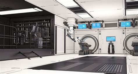 sci fi laboratory   model cgtrader