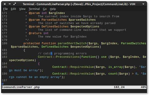 color schemes  vim driverlayer search engine