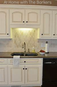 painting kitchen cabinets white Painted Kitchen Cabinets - At Home with The Barkers