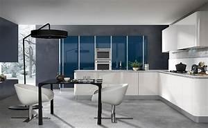 Mur Bleu Pétrole : cuisine blanche design le blog des cuisines ~ Melissatoandfro.com Idées de Décoration
