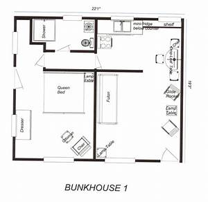 Located in woodland park colorado near colorado springs for Bunkhouse cabin floor plans