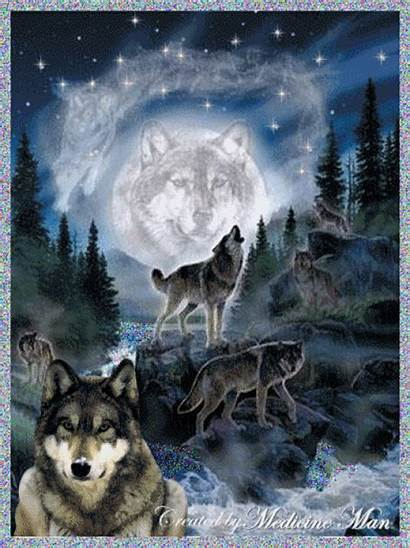 Wolf Animated Wolves Spirit Native American Fantasy
