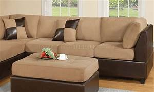 mocha fabric modern two tone sectional sofa w bycast base With sectional sofa 2 tone