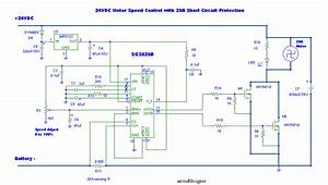 24v Dc Motor Controller With 20a Shot Circuit Protection