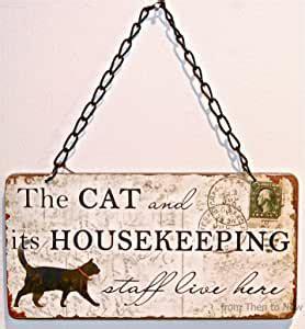 chic shabby  cat   housekeeping staff