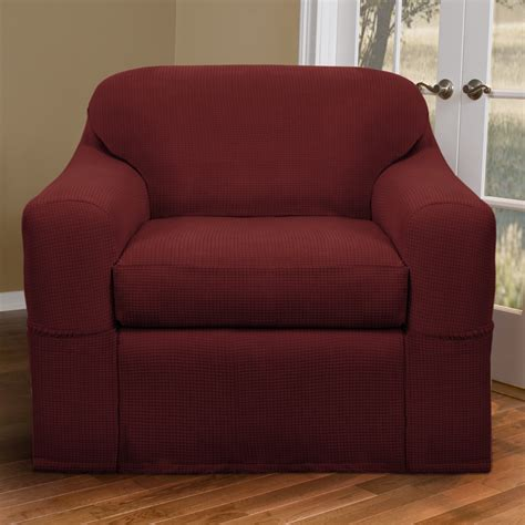 oversized chair slipcover 91 burgundy and oversized chair slipcover with