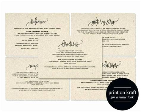 wedding direction card template    images
