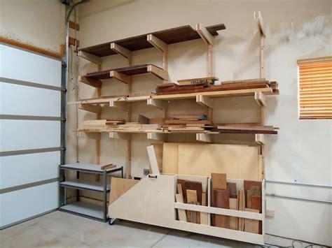 lumber storage rack dust collection lumber rack
