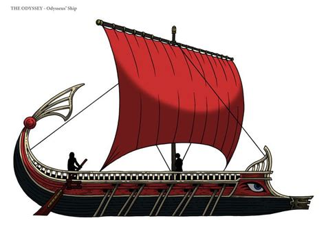 How To Draw A Ancient Boat by Odysseus Ship Search The Odyssey
