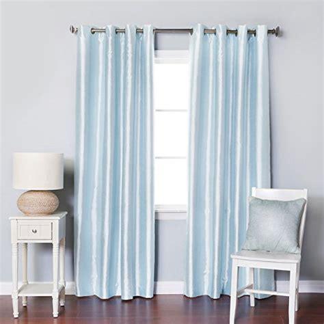 light blue curtains faux silk amazoncom