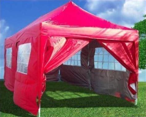 heavy duty red ez pop party tent