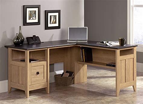 Sauder L Shaped Desk Dover Oak Finish sauder august hill l shaped desk dover oak finish