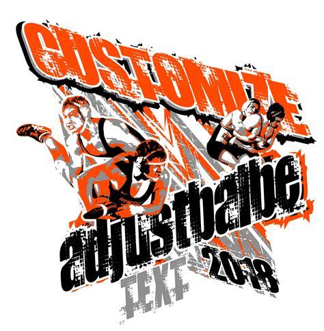 wrestling  shirt logo design  adjustable text