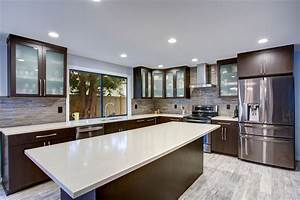 Quartz countertop brands comparison guide for Best brand of paint for kitchen cabinets with security sticker