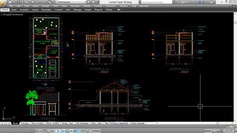 desain rumah minimalis format autocad top rumah