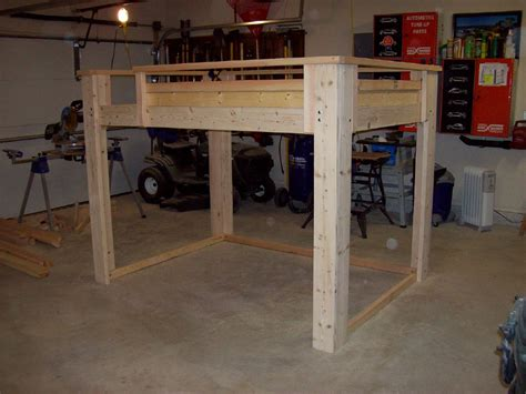 how to build a full size loft bed with desk torres tidbits diy full size loft bed