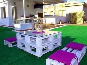Salon De Jardin Palettes : table basse palette pour salon de jardin en palette ~ Farleysfitness.com Idées de Décoration
