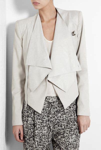 Helmut Lang Draped Jacket - helmut lang combo leather drape jacket in gray ash lyst