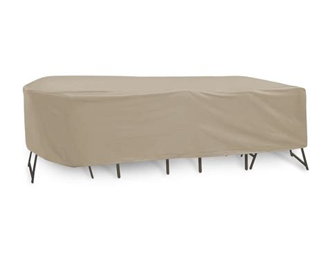 rectangular and oval matching patio table and chair covers