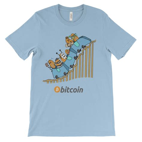 We accept bitcoin and lightning network payments. Bitcoin Cryptocurrency Roller coaster Colored T-Shirt ...