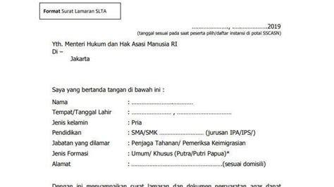 Contoh Surat Lamaran Kejaksaan by Contoh Surat Lamaran Dan Surat Pernyataan Cpns 2019