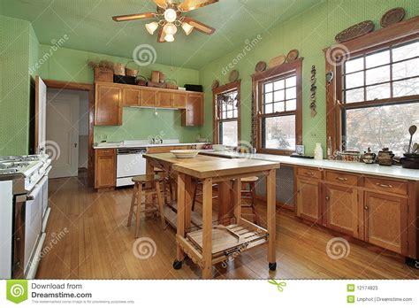 kitchen with green walls kitchen with green walls stock image image of furniture 6516