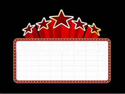Theater Clipart Clip Borders Marquee Template Background