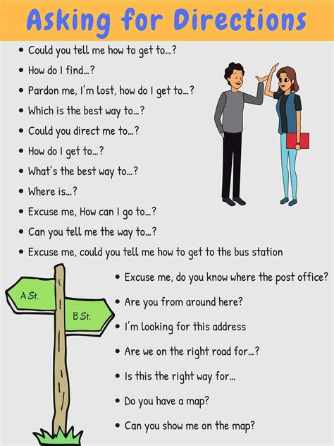 how to ask for and give directions in esl buzz