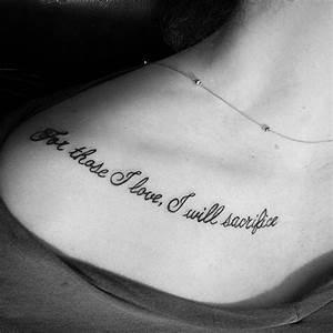 30 Inspiring Quote Tattoos for Girls on Collar Bone ...