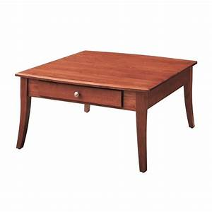 solid cherry square coffee table country lane furniture With cherry wood square coffee table