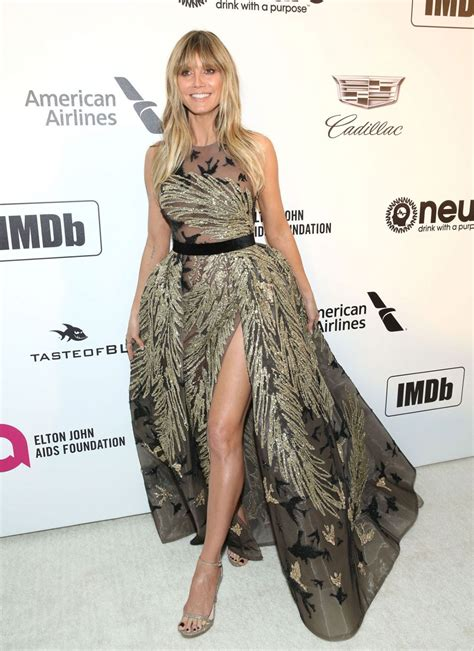 Celebrity Dresses Heidi Klum Elton John Oscars