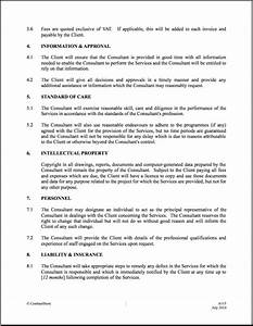 it consultant contract template free printable documents With consulting terms and conditions template