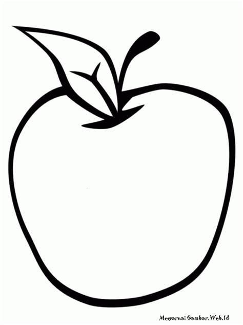 mewarnai buah apel mewarnai gambar