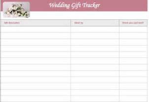 bridal gift record book wedding gift list template microsoft excel templates