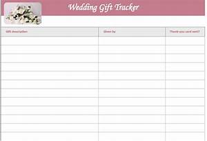 Wedding Gift List Template Microsoft Excel Templates
