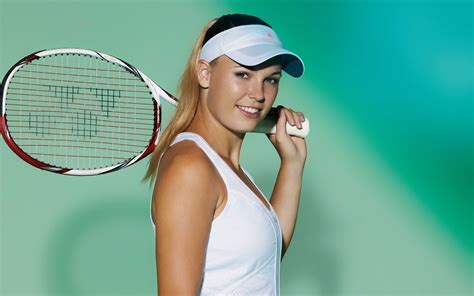 caroline wozniacki blonde women athletes tennis sports simple background smiling