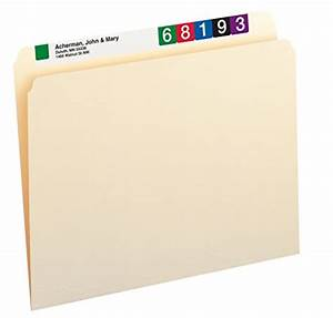 smead file folders straight cut tab letter size manila With letter labels for file folders