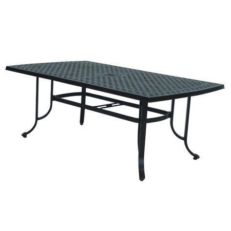 rectangular patio dining table shop allen roth shadybrook cast bronze rectangle patio