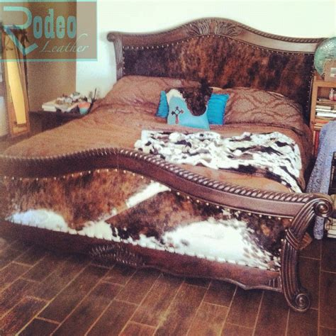 Cowhide Headboard by 60 Goodwill Cracked Wooden Bed I Upholstered With Padded