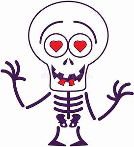 Cute Halloween Skeleton In Love Stock Vector - Image: 45348802