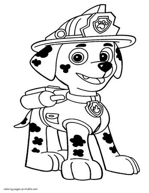 10 marshall paw Paw patrol coloring pages Paw patrol