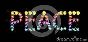 Gem Word Peace Royalty Free Stock Photos - Image: 36096728