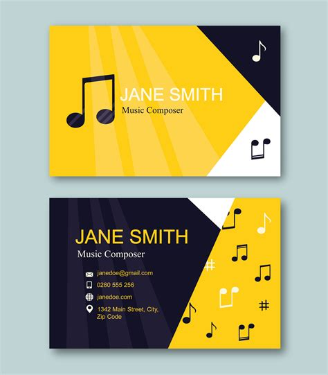 composer business card template