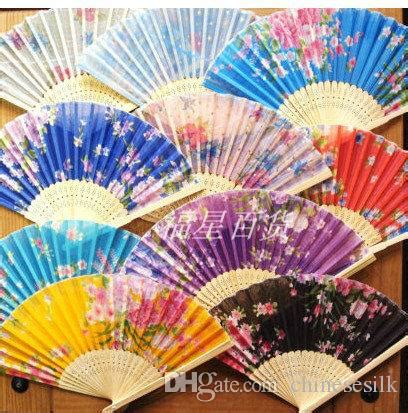 how to make a hand fan with fabric 7 porable fabric printed folding hand fans wedding favors
