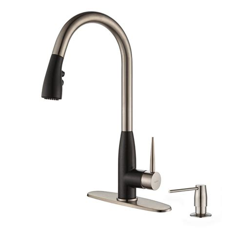 kraus faucets home depot kraus black pull faucet pull black kraus faucet